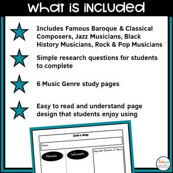 MUSIC - Musician and Composer Study Bundle