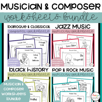 MUSIC - Musician and Composer Study Bundle