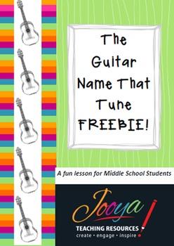 MUSIC - Name That Tune Guitar Lesson FREEBIE