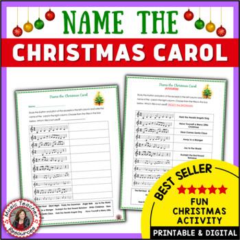 Christmas Music Activities Name the Christmas Carol