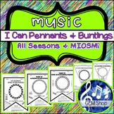 MUSIC PENNANTS & BUNTINGS (I CAN), Decor, Bulletin Boards: