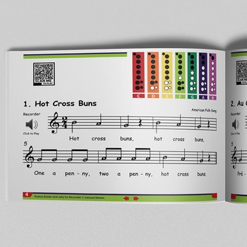 MUSIC: Peanut Butter and Jelly for Recorder - Interactive eBook (22 Songs)