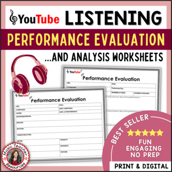 Music Listening Performance Evaluation And Analysis Sheets  Tpt