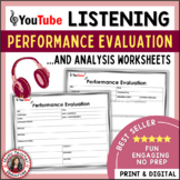 MUSIC LISTENING: Performance Evaluation and Analysis Sheets
