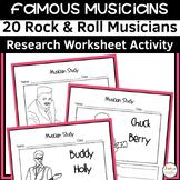 Rock Musicians Worksheets