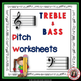 MUSIC: Pitch worksheets
