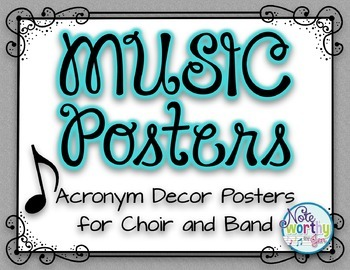 MUSIC Posters {Acronym Music Decor Posters for Band, Choir, and Orchestra}