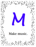 MUSIC Posters - for your classroom, cart, virtual teaching space!