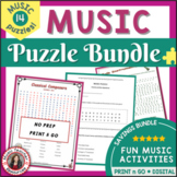 Music Games Bundle: Puzzle Pack 1 for Middle School Music