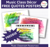 Music Class Decor Posters - 10 FREE Music Quotes