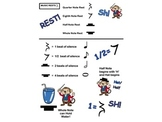 MUSIC RESTS- INFO PAGE!  HELP TO EXPLAIN EACH TYPE OF MUSIC REST! SH!
