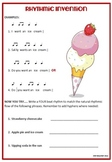 Music Activity: Music Rhythm Invention Worksheet