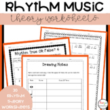 30 Rhythm Music Theory Worksheets