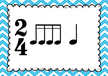 MUSIC-2/4 Rhythm and Melody Cards for Performance and Composition