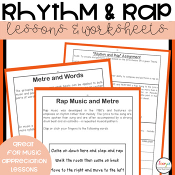 Music Lessons & Worksheets   Rhythm and Rap