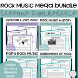 Rock Music Worksheets & Lessons Mega Bundle
