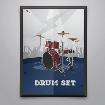 MUSIC: Rock Stage 50 Musical Instruments Classroom Posters [8.5x11]