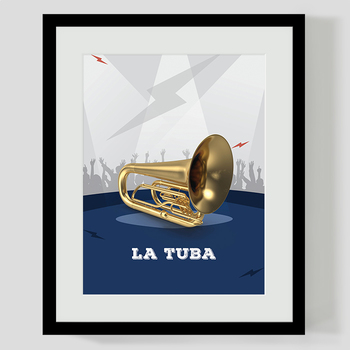 MUSIC: Rock Stage 50 Musical Instruments Classroom Posters - Spanish [8.5x11]