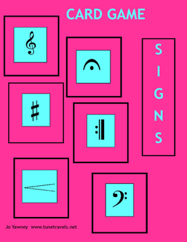 MUSIC SIGNS CARD GAME