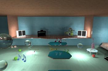 'Music Land piano software' screensaver