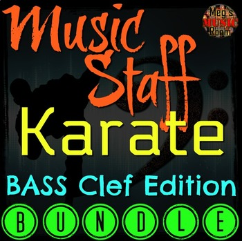 MUSIC STAFF KARATE - BASS CLEF EDITION BUNDLE - GREAT FOR MUSIC SUB!