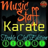 MUSIC STAFF KARATE BUNDLE - Treble Clef Edition - ELEMENTARY MUSIC PPT GAME