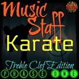 MUSIC STAFF KARATE - Treble Clef Edition - PHASE ONE - Back-to-School BTS