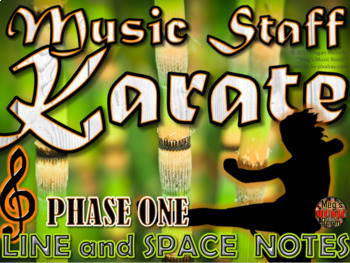 MUSIC STAFF KARATE - Treble Clef Edition - PHASE ONE
