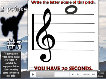 MUSIC STAFF KARATE - Treble Clef Edition - PHASE TWO - ELEMENTARY MUSIC PPT GAME