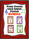 MUSIC STORIES WORD SEARCH PUZZLES Bundle NEW!!!