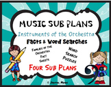 MUSIC SUB PLANS Families of the Orchestra Facts & Word Searches