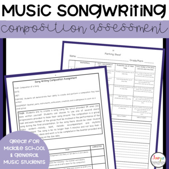 MUSIC: Song Writing Composition Task for Elective Classes