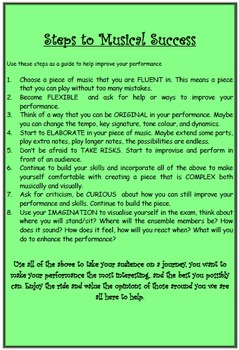 MUSIC: Steps to Musical Success
