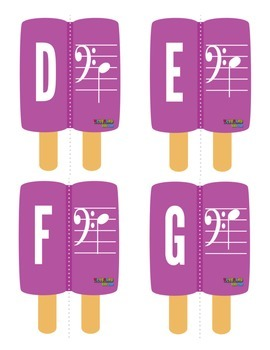 MUSIC: Summer Themed Bass Clef Note Naming Activity