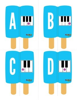 MUSIC: Summer Themed Piano White Key Naming Activity
