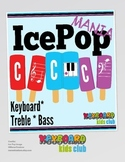 MUSIC: Summer Themed COMPLETE Treble Clef, Bass Clef, Whit