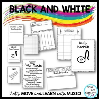 Music Teacher Basic Planner for Lessons, Concerts,Day-Week-Quarter-Year-Editable