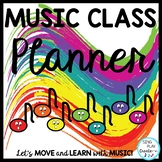 Music Teacher Basic Planner for Lessons, Concerts,Day-Week