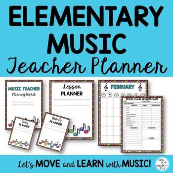 music teacher basic planner for lessons concertsday week quarter year editable