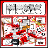 MUSIC -TEACHING RESOURCES RHYTHM RHYME DISPLAY EARLY YEARS KS1-2 MUSICAL NOTES