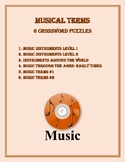 MUSIC TERMS CROSSWORD PUZZLES