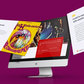 MUSIC: THE JIMI HENDRIX EXPERIENCE [PowerPoint] w/ Quiz & Audio