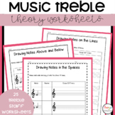 Music Treble Note Worksheets