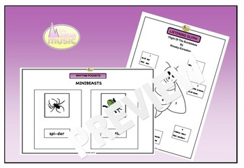 MUSIC TOPIC PACK - MINIBEASTS