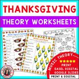 Music Thanksgiving: 24 Music Thanksgiving Theory Worksheets