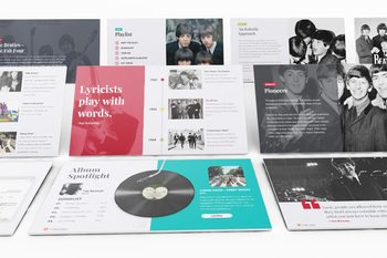 MUSIC: The Beatles - The Fab Four [PowerPoint w/ Interactive Quiz]