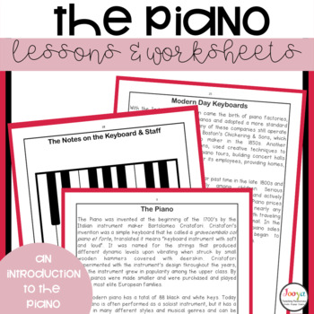 MUSIC - The Piano and Other Keyboard Instruments A Mini Unit of Work