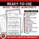 MUSIC Worksheets: Middle School - 20 Music Theory Worksheets