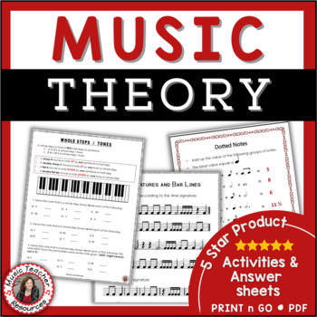 This is a graphic of Free Printable Music Theory Worksheets for 4th grade