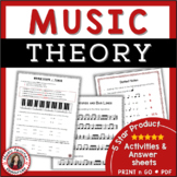 Music Theory Worksheets for Middle School and Jr. High School